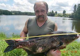 Rybník Staňkovský Tolstolobik -95 cm - 35 kg - 10.7.2011